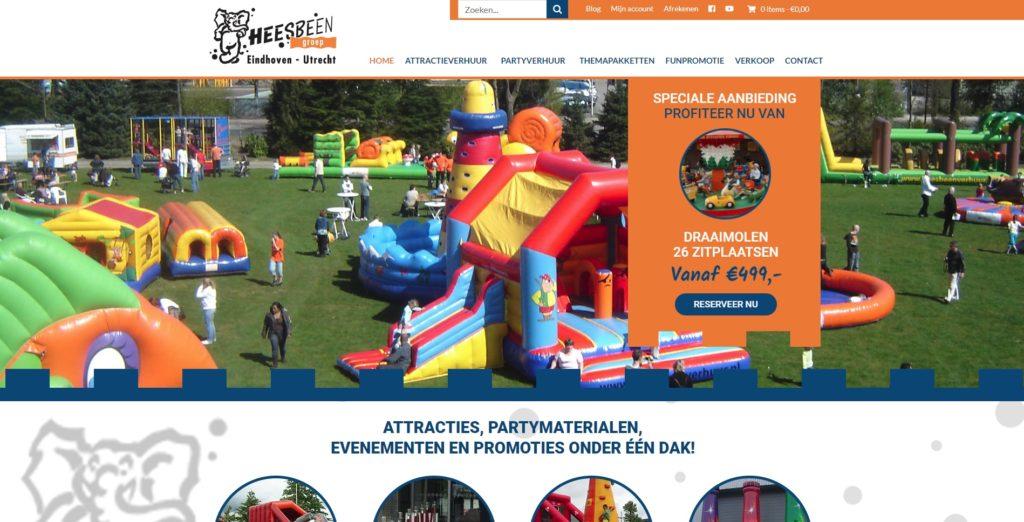 Heesbeen nieuwe website